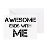 Awesome end with Me Greeting Cards (Pk of 10)