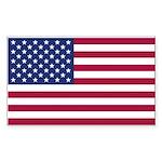 American Flag Sticker (Rectangle)