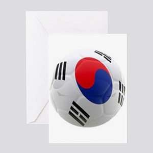 South Korea world cup soccer ball Greeting Card