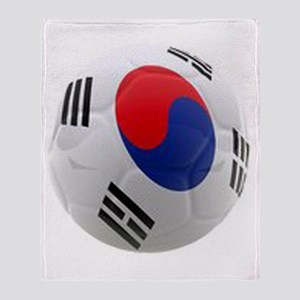 South Korea world cup soccer ball Throw Blanket