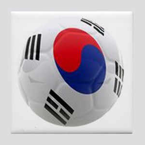 South Korea world cup soccer ball Tile Coaster