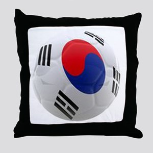 South Korea world cup soccer ball Throw Pillow