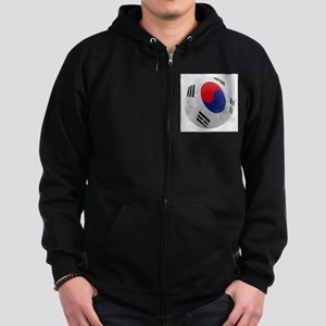 South Korea world cup soccer ball Zip Hoodie (dark