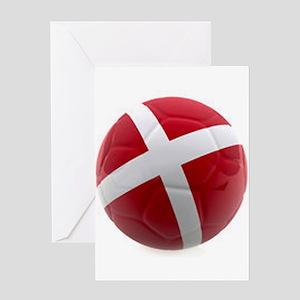 Denmark World Cup Ball Greeting Card