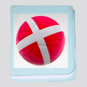 Denmark World Cup Ball baby blanket