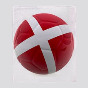 Denmark World Cup Ball Throw Blanket