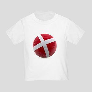 Denmark World Cup Ball Toddler T-Shirt