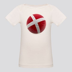 Denmark World Cup Ball Organic Baby T-Shirt