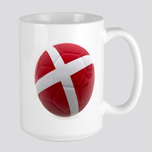 Denmark World Cup Ball Large Mug