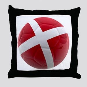 Denmark World Cup Ball Throw Pillow