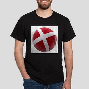 Denmark World Cup Ball Dark T-Shirt