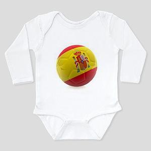 Spain World Cup Ball Long Sleeve Infant Bodysuit