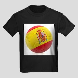 Spain World Cup Ball Kids Dark T-Shirt