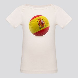 Spain World Cup Ball Organic Baby T-Shirt