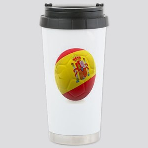 Spain World Cup Ball Stainless Steel Travel Mug