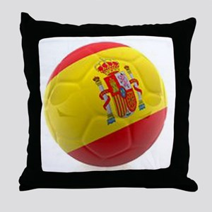 Spain World Cup Ball Throw Pillow