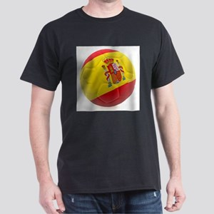 Spain World Cup Ball Dark T-Shirt