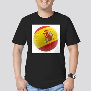 Spain World Cup Ball Men's Fitted T-Shirt (dark)