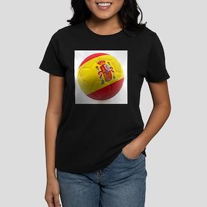 Spain World Cup Ball Women's Dark T-Shirt