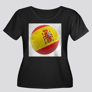 Spain World Cup Ball Women's Plus Size Scoop Neck