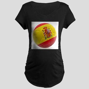 Spain World Cup Ball Maternity Dark T-Shirt