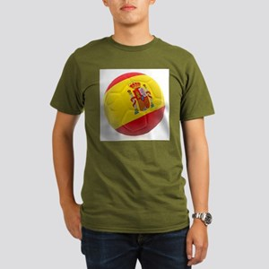 Spain World Cup Ball Organic Men's T-Shirt (dark)
