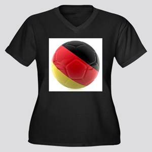 Germany World Cup Ball Women's Plus Size V-Neck Da