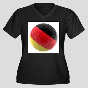 Germany World Cup Ball Women's Plus Size V-Neck Da