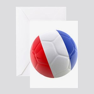 France World Cup Ball Greeting Card