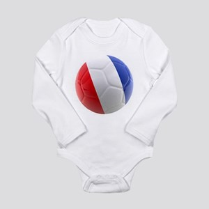 France World Cup Ball Long Sleeve Infant Bodysuit
