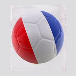 France World Cup Ball Throw Blanket