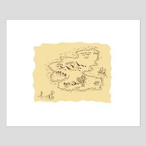 Pirate Treasure Map Sailing Ship Drawing Posters