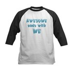 Awesome ends with Me Kids Baseball Jersey