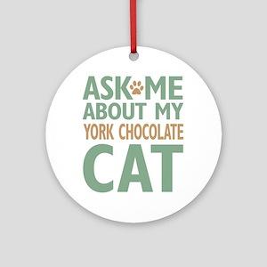 York Chocolate Cat Ornament (Round)