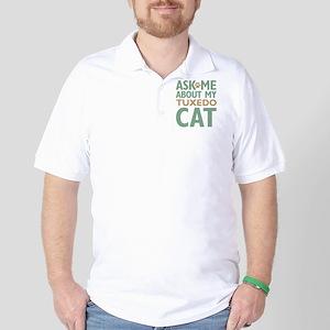 Tuxedo Cat Golf Shirt