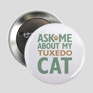 "Tuxedo Cat 2.25"" Button"