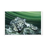 Snow Leopard 22x14 Wall Peel