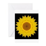 Yellow Sunflower IX Greeting Cards (Pk of 10)