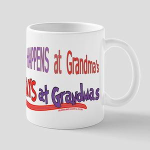 WHAT HAPPENS AT GRANDMA'S Mug