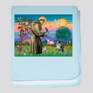 St Francis / Cattle Dog baby blanket