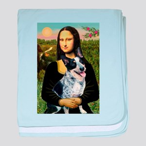 Mona Lisa/Cattle Dog baby blanket