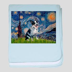 Starry Night/ Australian Catt baby blanket