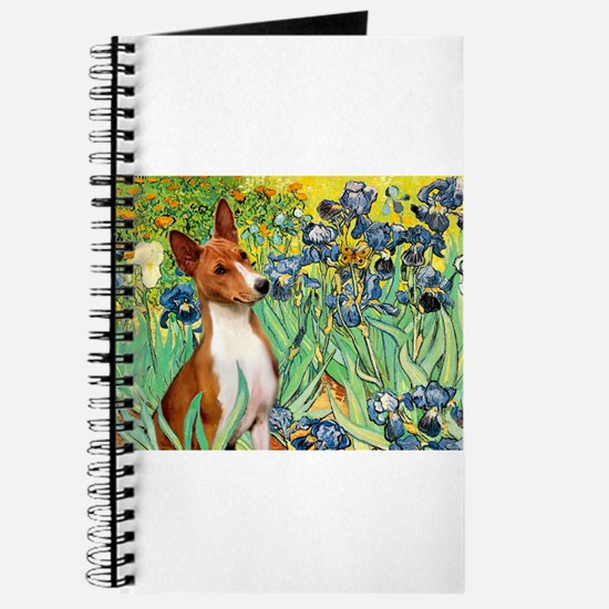 Basenji in Irises Journal