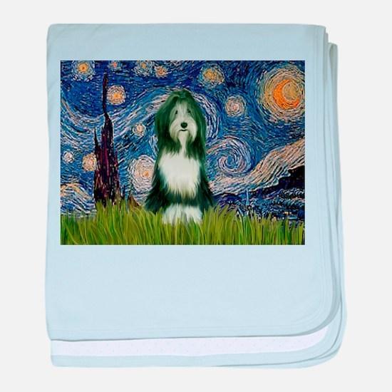 Starry Night & Beardie baby blanket