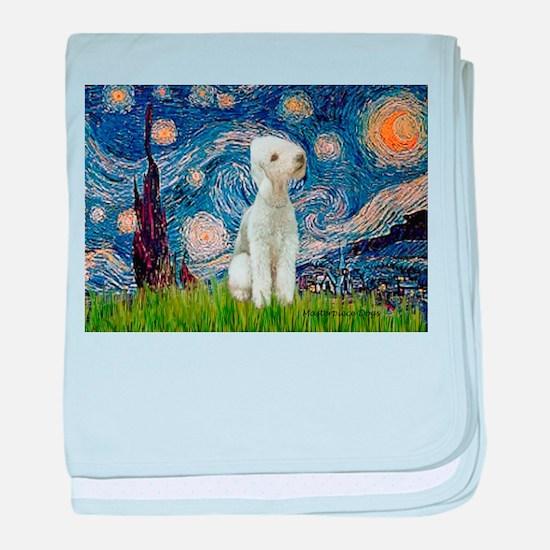 Starry Night Bedlington baby blanket