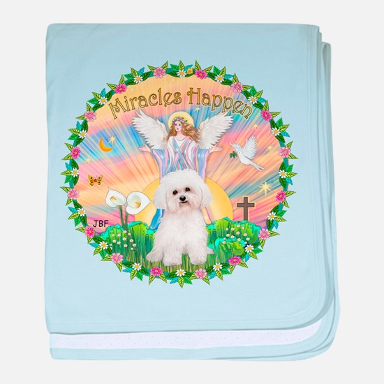 Miracles - Bichon Frise baby blanket