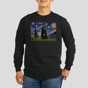 Starry Night Bouvier Long Sleeve Dark T-Shirt