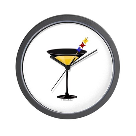 Steelertini Wall Clock
