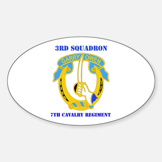 DUI - 3rd Sqdrn - 7th Cavalry Regt with Text Stick