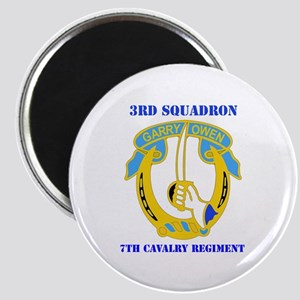 DUI - 3rd Sqdrn - 7th Cavalry Regt with Text Magne